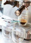 DRINK LINE duplafalú üveg pohárszett, 100ml, átlátszó