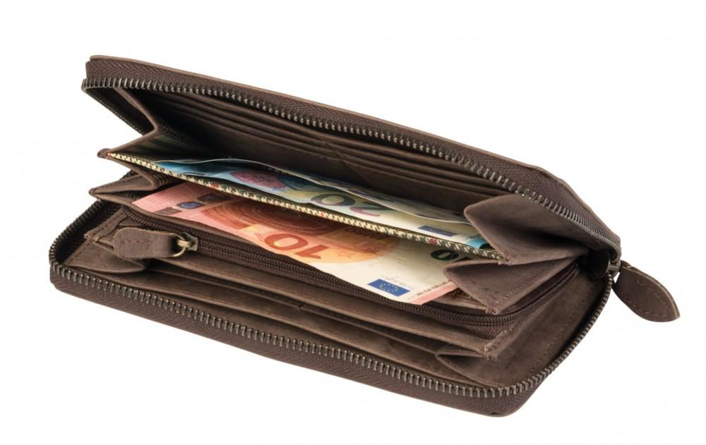 849a3bab935f LADY valódi bőr pénztárca, barna - Ajándék, ajándékok, meglepetések ...