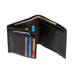 Dow Jones bőr pénztárca, fekete