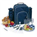 Piknik hátitáska hűtő rekesszel és kiegészítőkkel 4 személyre