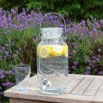 Limonádés üveg, csatos tetővel, 3,6 literes