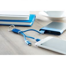 RIZO kulcstartó 1A mikro USB- és C típusú töltőkábelekkel