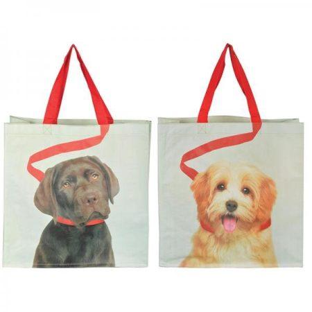 Bevásárló táska, kutya mintával