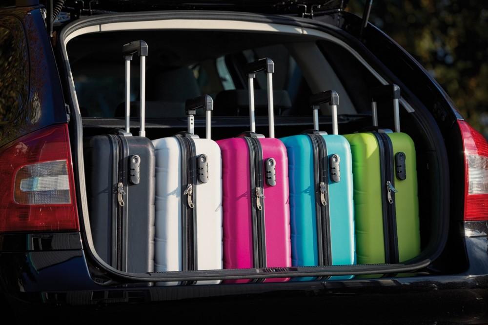 Padua gurulós utazó bőrönd, fehér