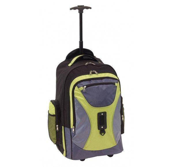 Comforty gurulós hátizsák, szürke/zöld