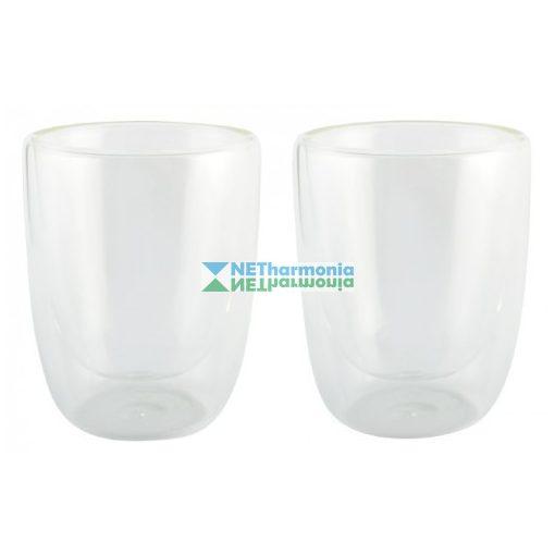 DRINK LINE duplafalú üveg pohárszett, 300 ml, átlátszó