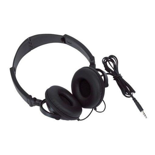 Rocker bélelt fülhallgató, fekete