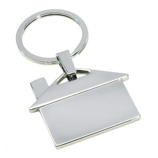 Fém kulcstartó, ezüst