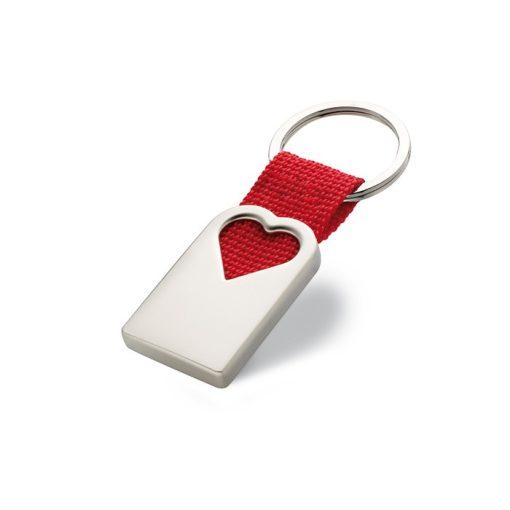 BONHEUR szív kulcstartó fémből