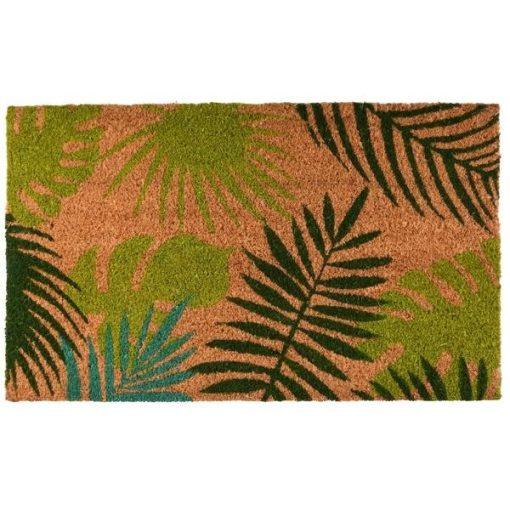 Kókuszrost lábtörlő, trópusi levél minta