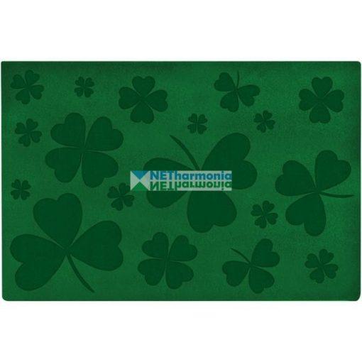 Zöld lábtörlő, lóherés mintázattal