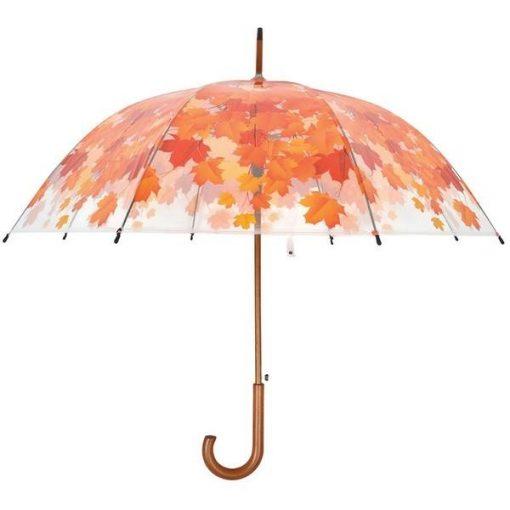 Őszi levél mintás esernyő
