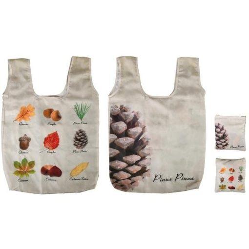 Összehajtható bevásárló táska, erdei